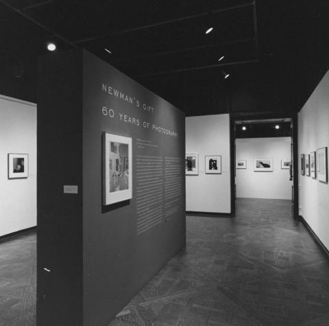 Arnold Newman's Gift: Sixty Years of Photography exhibit display
