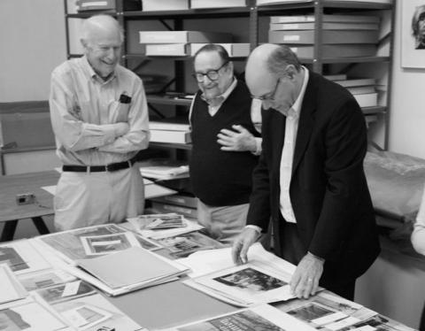 Ron Kurtz, Arnold Newman, and Howard Greenberg, March 2006